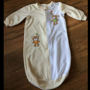 ABSORBA BABY Fleece SLEEPER BAG SLEEP SACK 0-9 Mo